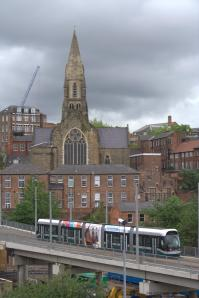 Tram_with_Pitcher_and_Piano_cocktail_bar,_Nottingham