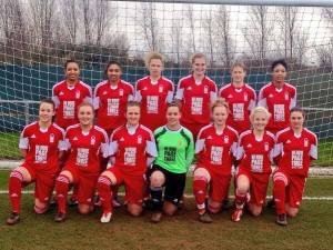The Notrtingham Forest Ladies football team show their support for the campaign