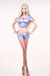 Valeria Lukyanova is known as 'Real Life Barbie' is rumoured to suffer from body dysmorphia.