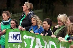 Teachers striking
