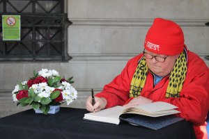 A book of condolences has been opened for messages from the public