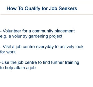 How to qualify for job seekers allowance under the new 'Help to Work' scheme.