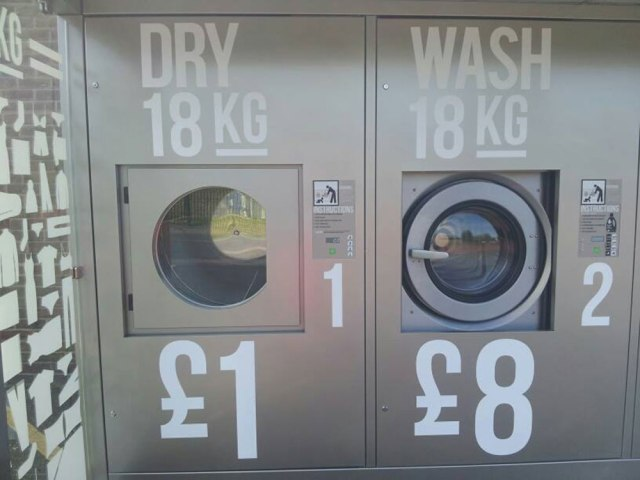 The Revolution washers cost £8 per load - which includes detergent and softner.