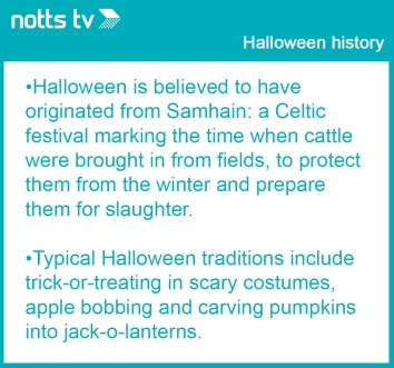 Halloween fact box