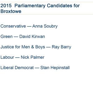 Broxtowe Candidates