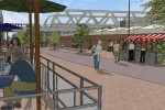 An artist impression of how station street would look