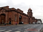Nottingham (formerly Midland) railway station façade on Carrington Street, Nottingham at the junction with Station Street. Monday 15th December 2008