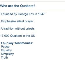 Quaker Fact Box